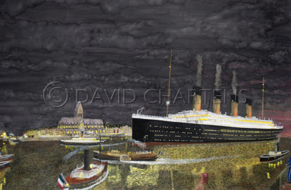 The Titanic at Cherbourg by David Chartens