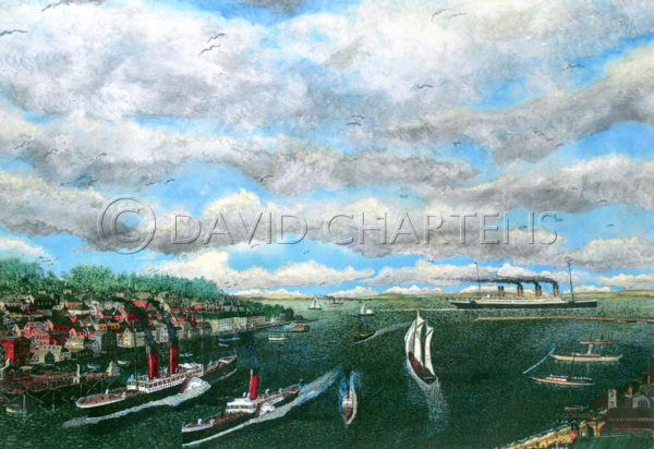 Cowes Harbour by David Chartens