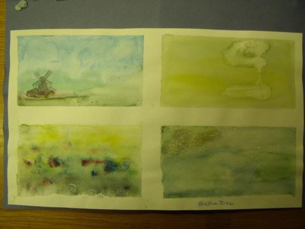 Watercolour sketches by Sasha Dee