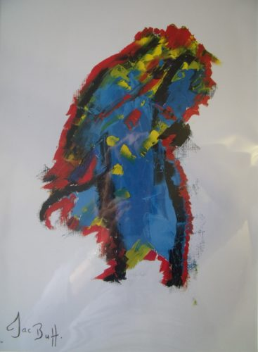 Coloured Abstract ' Silence' by Jac Butt