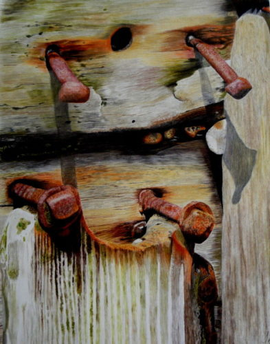 Groyne on the beach by jayne morgan