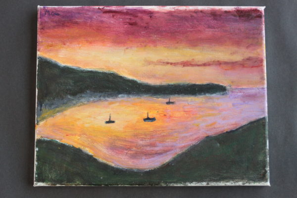 Sunset at Lulworth Cove by Martin Cale