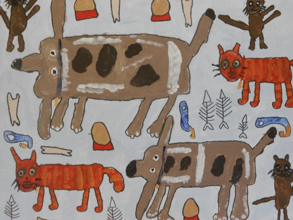 Cats and dogs by Abby