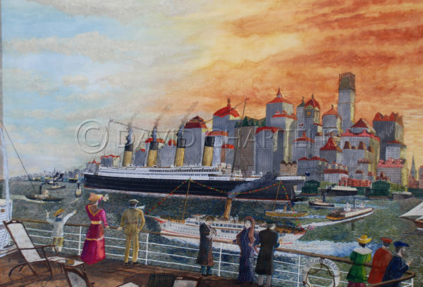 New York from Boat Deck by David Chartens