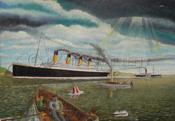 Passing Cowes Harbour by David Chartens