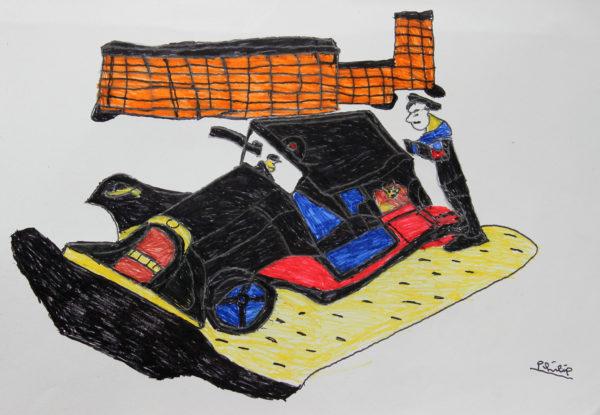 black car by Philip Knights