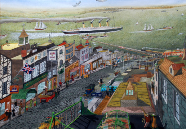 Ryde High Street and Titanic by David Chartens