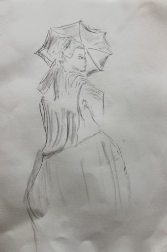French Lady in the 1800s by Sasha Dee