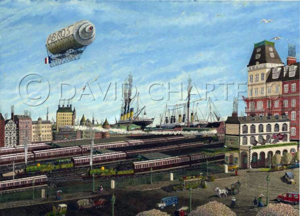 The Ocean Dock at Southampton April 10th 1912 by David Chartens