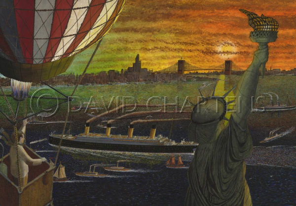 Statue of Liberty and Balloon by David Chartens