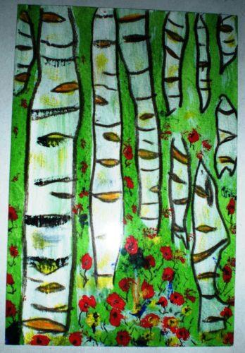 Swedish birches by John Nugent