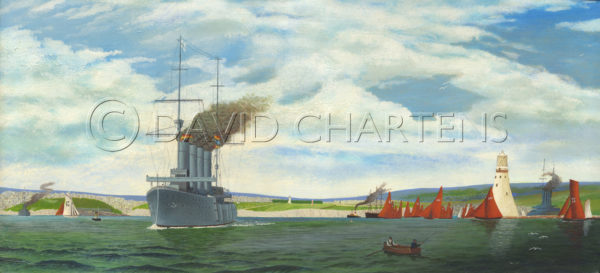 Titanic Approach to Plymouth Harbour by David Chartens