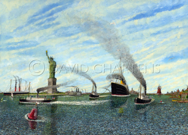 Titanic Approach to The New World by David Chartens