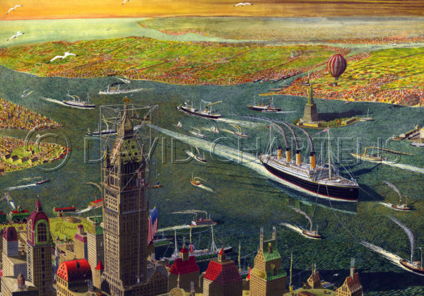 Titanic Arriving In New York by David Chartens