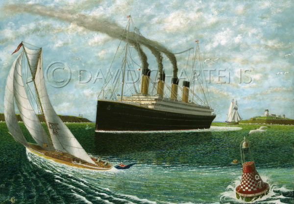 Titanic at Queenstown by David Chartens