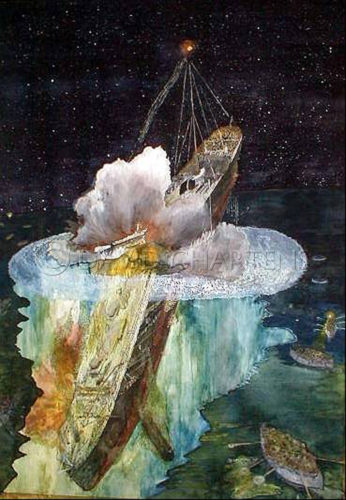 Titanic Breaking in Half by David Chartens