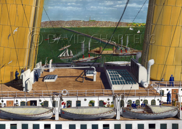 Titanic Passing Ryde by David Chartens