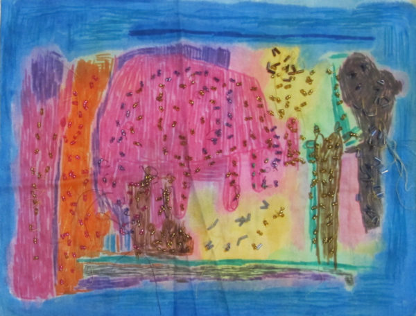 Pink Elephant by Valerie Charles
