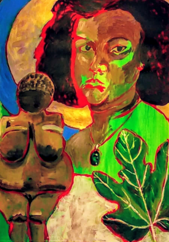 """""""Self-Portrait: Exiled Eve (Learning to Embrace) by Michelle  Rodrigues"""