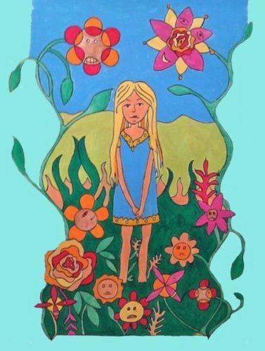 Alice in the garden of talking flowers. by Stephen Powlesland