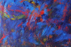 Blue and red painting
