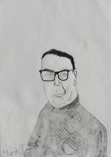 Marky sparky – self portrait by Mark Taylor