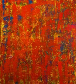 Red textured painting