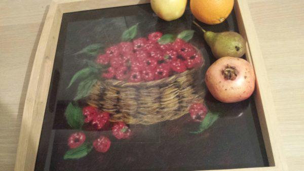 "Tea tray. ""Rassberries"" by Guli"