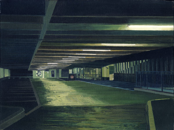 Car park at night by MonJon
