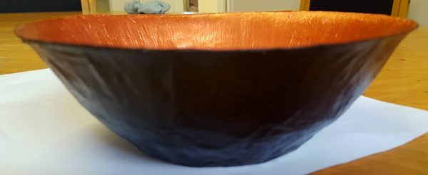 Black and Copper Bowl by Gadz