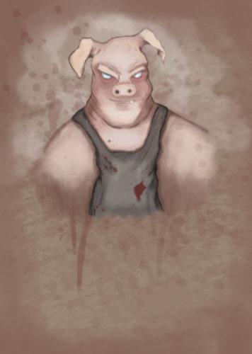 Pig man by Joe Mcgwynn