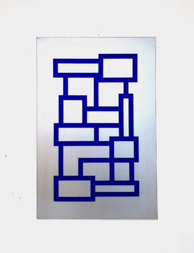 Blue And Silver Blocks by Grade One