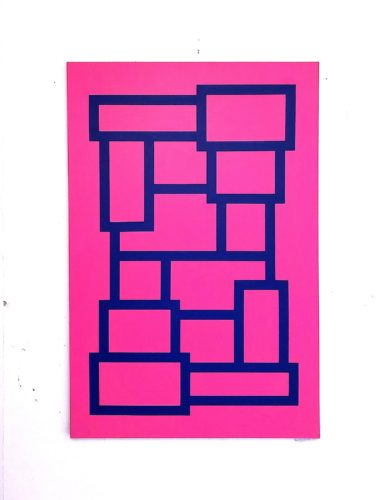 Blue And Pink Blocks by Grade One