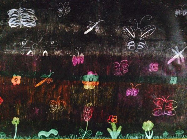 Insects at night by Grace Tunnell
