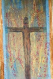 Crucifixion wall hanging by marian stephenson
