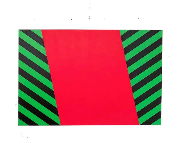 Green And Black Stripe by Grade One
