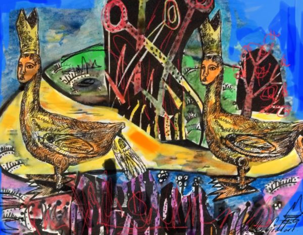 The Bishop of Heidlesham series by Three wise men the Kandinsky inspired work Tunisa