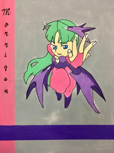 Morrigan pocket fighters by Moina