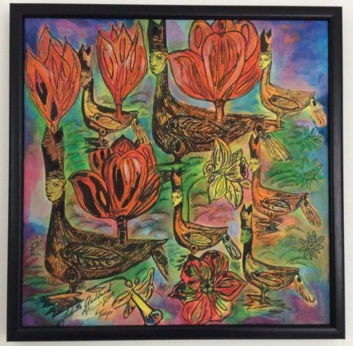 The Moroccan Tulips 🌷 by Three wise men the Kandinsky inspired work Tunisa