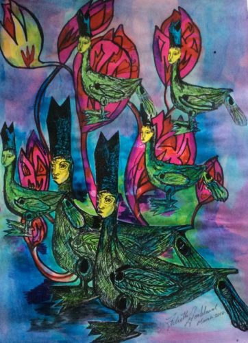 Amsterdam Africa Tulips/Bishops of Heildesham by The Baffallo series of Art