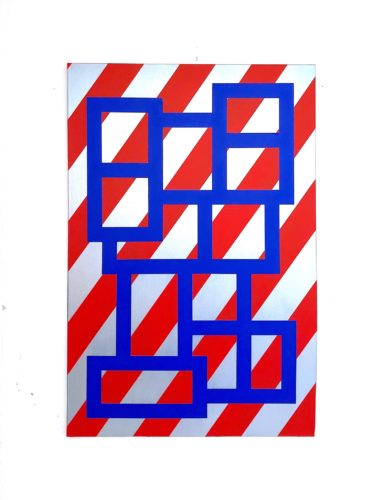 Red Stripe Blue Blocks by Grade One
