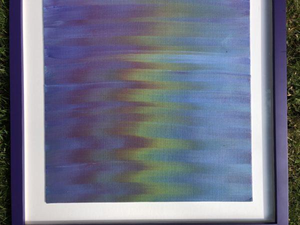Rainbow reflection on water by Leah Vafaye