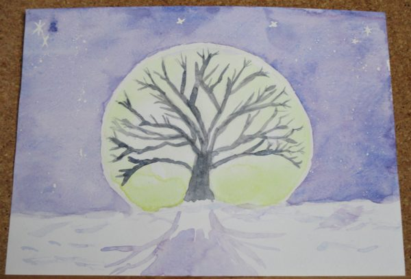 Moonlight Tree by My art unfolding