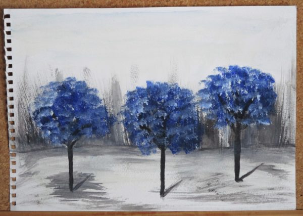 Blue Trees by My art unfolding