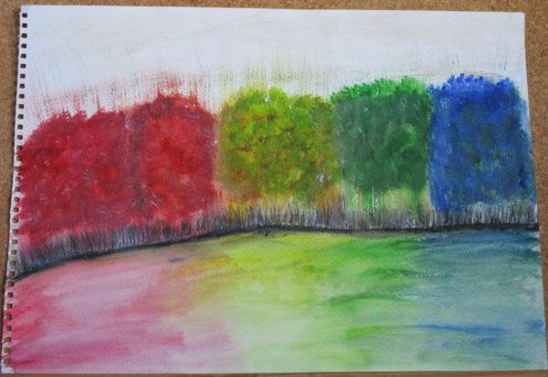 Rainbow Trees by My art unfolding
