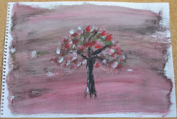 Red Tree by My art unfolding