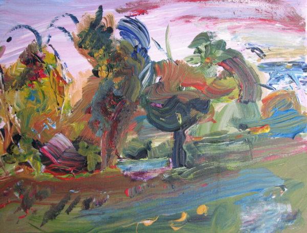 Autumn trees at Twyford by David Jackson