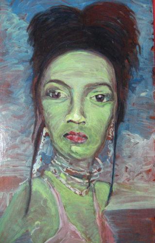 Self portrait by Kunte Howell-Ojidade