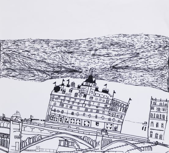 The Balmoral Hotel and North Bridge, Edinburgh by Ramsay Gardens and High Street, Edinburgh