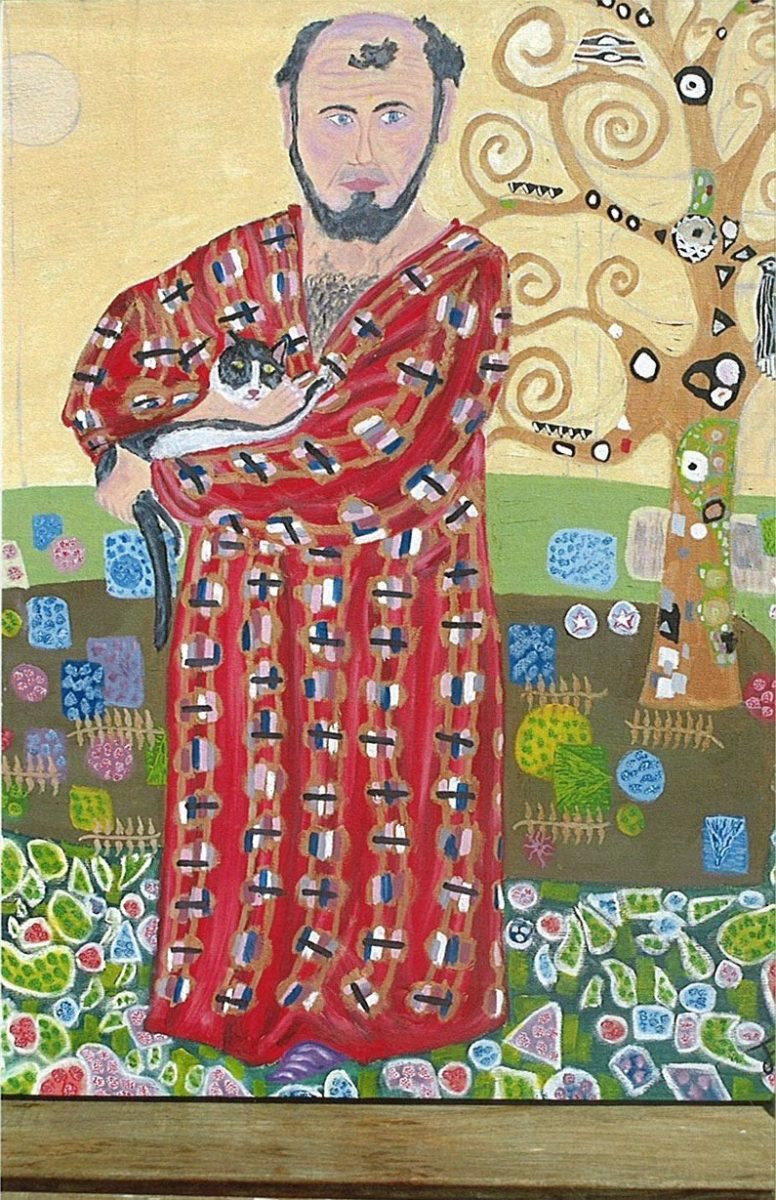 481 || 930 || Gustav Klimt with cat in front of tree Thomas France